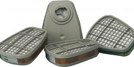 Filter voor half en vol gelaatsmasker  3M combi stof  en damp per set van 2