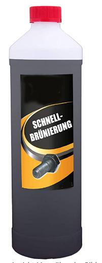Schnellbrünierung (5000 mL) - Kaltbrünierung Brünierung - Selber brünieren – Brüniermittel für Eisen & Stahl + Schwärzen von Zink