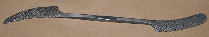 Riffelrasp handgekapt gehard staal model C20cm