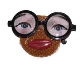 Stroopwafel met bril traktatie