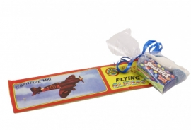 Vliegtuig met zakje snoep
