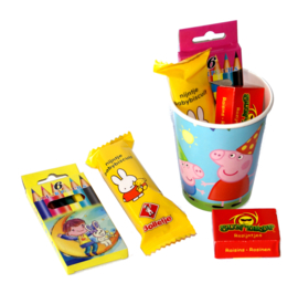 Peppa Pig traktatiebekers