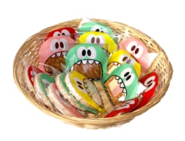 Monster traktatiezakje met koek