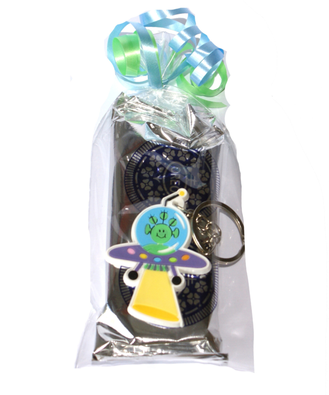 Zakje Oreo koekjes met ruimtevaart sleutelhanger