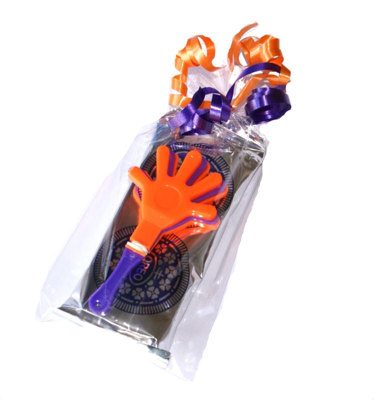 Zakje Oreo koekjes met klein klaphandje