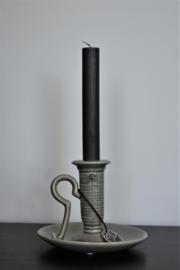 Kaarsenstandaard keramiek grijs
