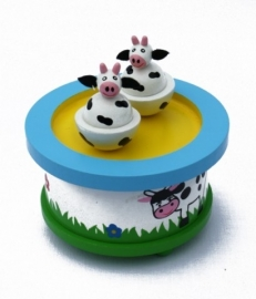 Muziekdoos ~ Dansende koeien
