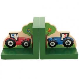 Kinder Boekensteunen ~ Tractor groen