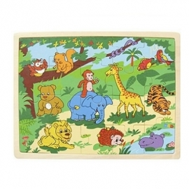 Puzzel ~ Jungledieren