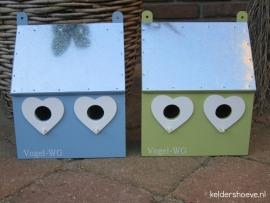 Vogelhuis ~ Blauw of Groen