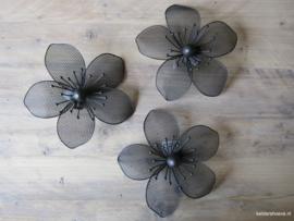 Wandhanger Bloemen ~ Set van 3