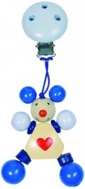 Clip hanger - Blauwe muis