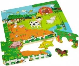 3-laags puzzel - Boerderij