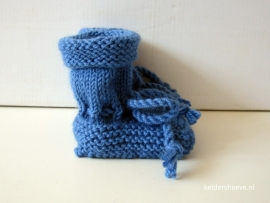 Babyslofjes -Wol Mt 7 t/m 10 cm Lichtblauw