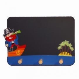 Kinderkapstok & Schoolbord ~ Piraat