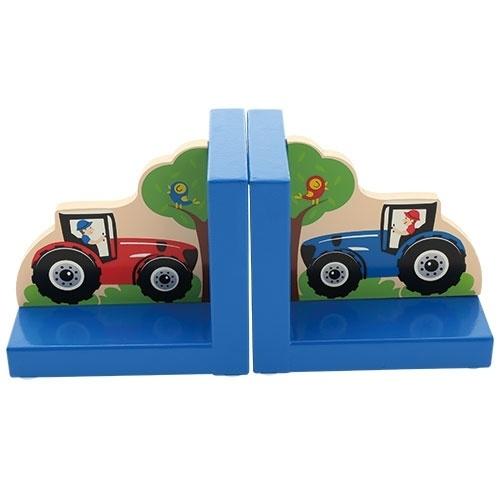 Kinder Boekensteunen ~ Tractor blauw