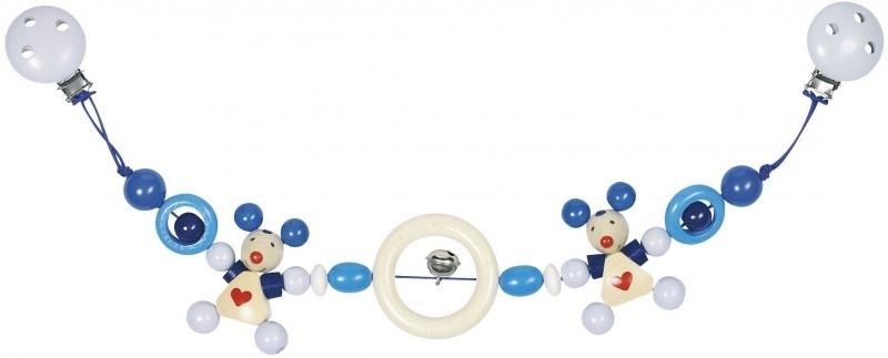 Kinderwagenspanner - Blauwe muis