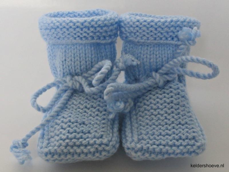 Babyslofjes - Acr. Mt 7 t/m 10 cm Licht Blauw