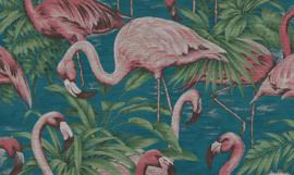 Curiosa - Flamingo 31541 - Arte Wallpaper