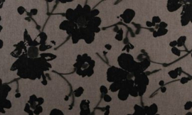 18003 Metal Velvet Flower and Lin - Flamant by ARTE wallpaper
