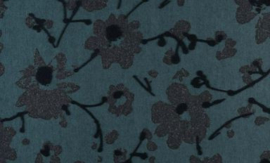 18009 Metal Velvet Flower and Lin - Flamant by ARTE wallpaper