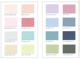 TOUCH OF COLOUR Kleurkaart