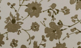 18008 Metal Velvet Flower and Lin - Flamant by ARTE wallpaper