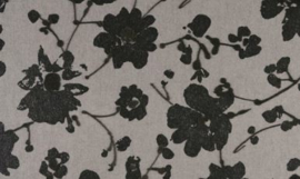 18004 Metal Velvet Flower and Lin - Flamant by ARTE wallpaper