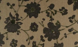 18007 Metal Velvet Flower and Lin - Flamant by ARTE wallpaper