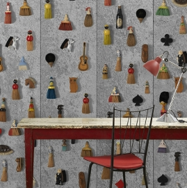 Arte Wallpaper Obsession Wallpaper DRO-05 Brooms