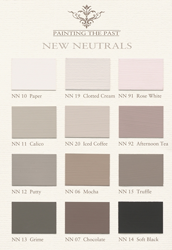 Painting the Past kleurkaart New Neutrals