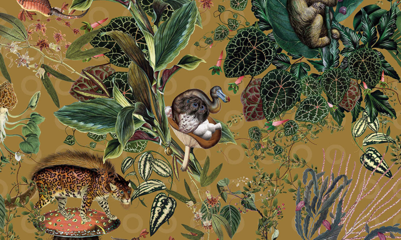 Menagerie of Extinct Animals MO2074 - Moooi by Arte Wallpaper