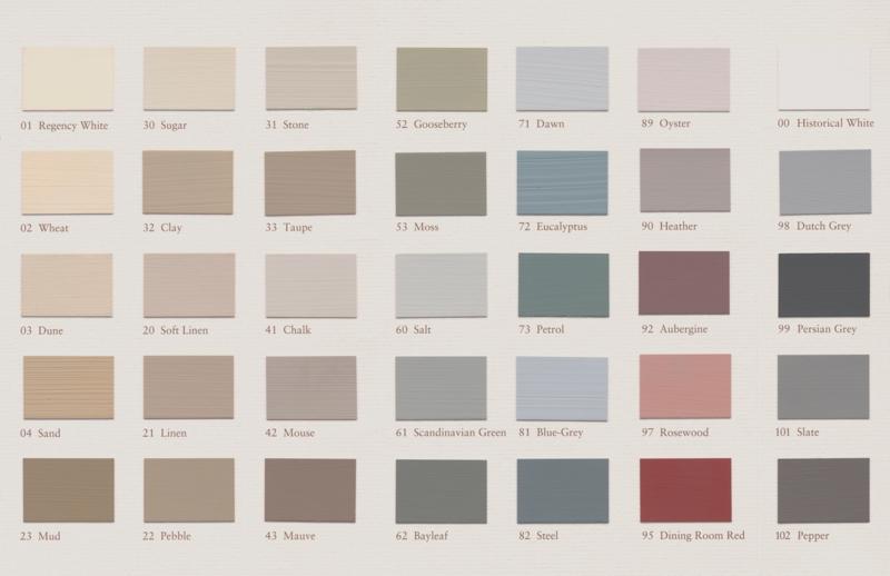 TRADITIONAL COLOURS kleurkaart
