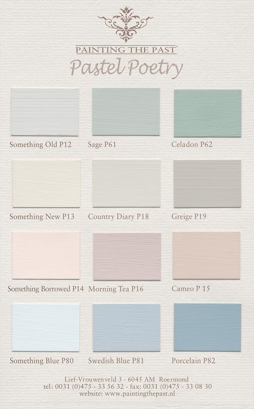 Painting the Past kleurkaart Pastel Poetry