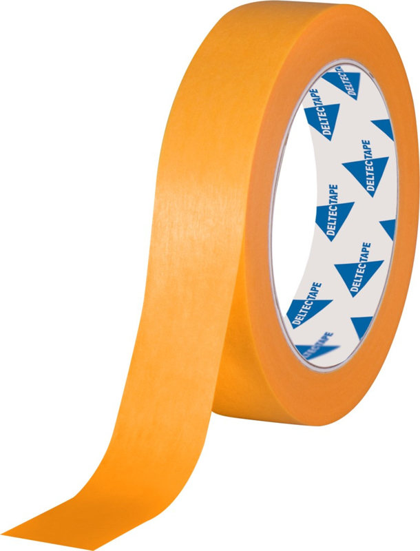 Professionele masking tape Gold 25mm x 50 mtr