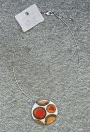 Culture Mix ketting met hanger Perihan - rood (KK-CM-405)