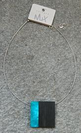 Culture Mix ketting met hanger Conny - Blauw (KK-CM-421)