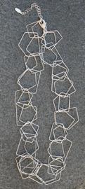 Stephisimo Handgemaakte Grote Schakelketting - Charm Zilver (KK-ST-1807)