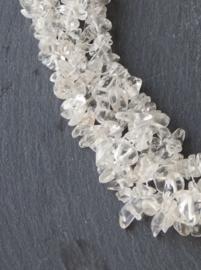 Brede korte steenketting Rock Cristal - Nicole Transparant ( KK-DR-1903)