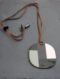 Stephisimo - Verstelbare Ketting met Extra Grote Glans Hanger - Jolanda ( KK-ST-1905)