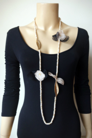 Sweet7 Lange Statement Ketting -Paris - Zalm (KK-S7-1807)