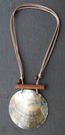 Atoll Palm - Verstelbare Ketting met Extra Grote Schelp Hanger - Andrea Blauw1  (KK-AT-1929)