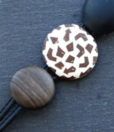 Culture Mix  - Armband met elementen van  kokosnoot met hars - Astrid (A-CM-1901)