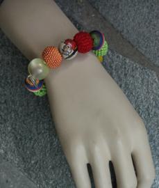 Stephisimo - Armband met Grote Handgemaakte Kralen - Bollywood Multicolour  (A-ST-1803)