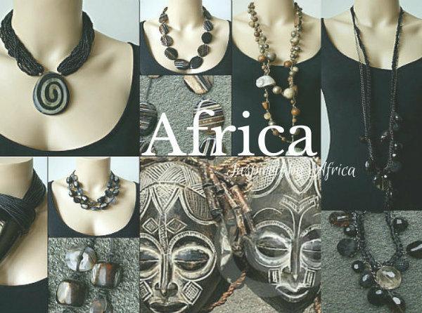Sieraden met inspiratie bron Afrika