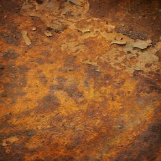 Roest oranje brons