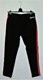 Corex1990 zwarte broek met rode bies-XL