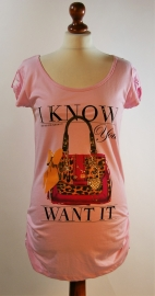 Red Rouge roze shirt-M