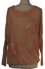 Perzik sterren shirt-2