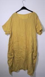 Okergele jurk-46